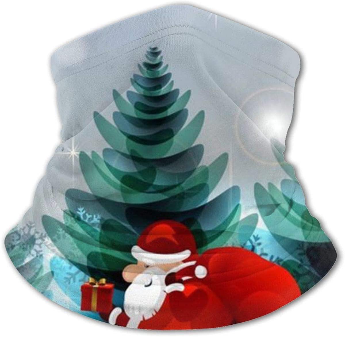 Happy Santa Headwear For Girls And Boys, Head Wrap, Neck Gaiter, Headband, Tenn Fishing Mask, Magic Scarf, Tube Mask, Face Bandana Mask For Camping Running Cycling