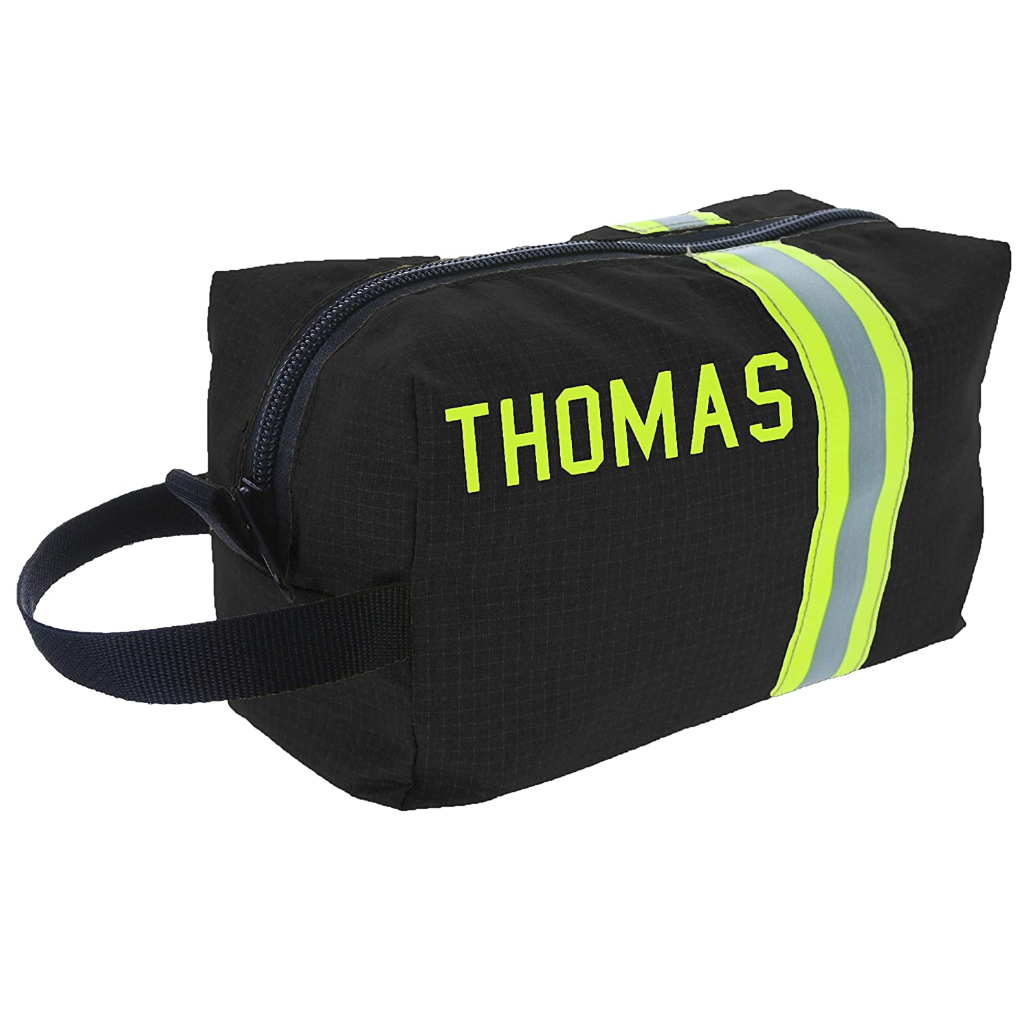 Firefighter Personalized Black Toiletry Bag