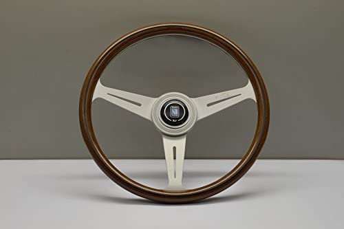 NARDI Steering Wheel - Classic - 360 mm (14.17 inches) - Mahogany Wood with White Spokes - Part # 5061.36.1000