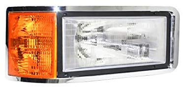 Rareelectrical NEW RIGHT HEADLIGHT COMPATIBLE WITH MACK HEAVY DUTY CH-600 1989-2007 SET BACK AXEL 25163253