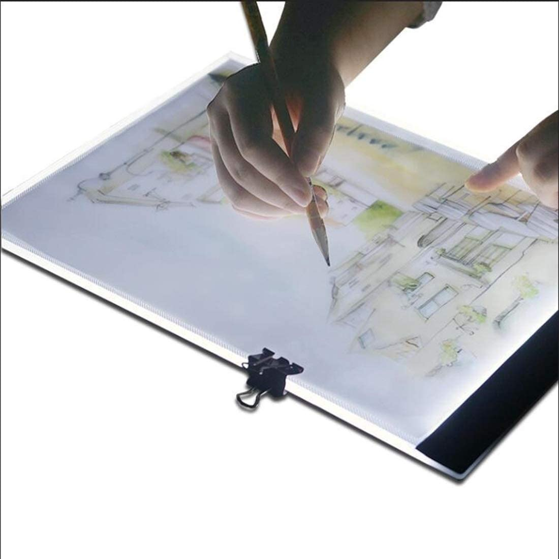 SHENGMASI Digital Drawing Board Ultra-Thin A4 Size Portable USB LED Artcraft Tracing Light Box Copy Board Brightness Control for Artists Drawing Sketching Animation and X-ray Viewing