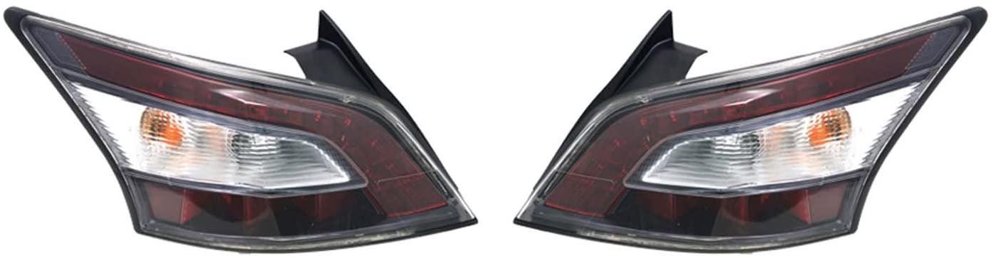 Rareelectrical NEW TAIL LIGHT PAIR COMPATIBLE WITH NISSAN MAXIMA 2014 NI2800197 26555-9DA0B NI2801197 26550-9DA0B 265509DA0B