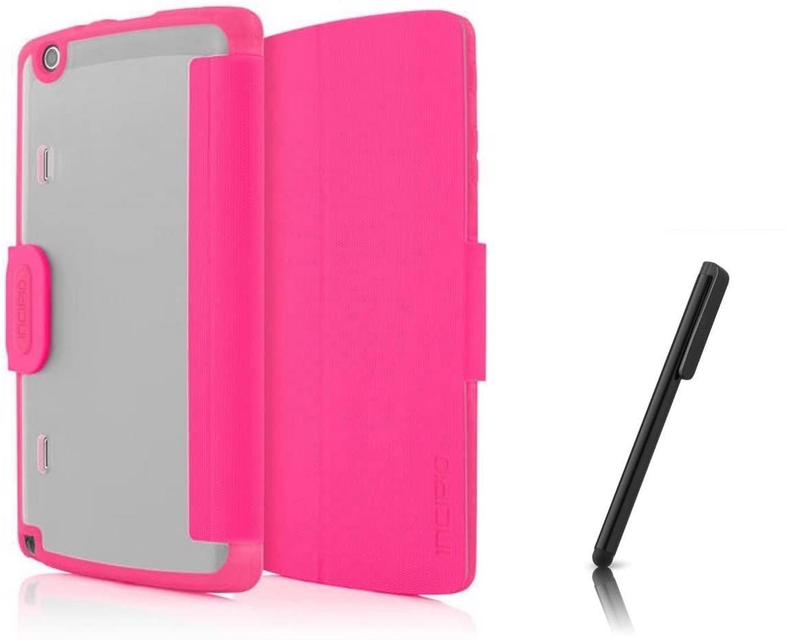 Incipio Shock-Absorbing Octane Folio Case & Stylus for LG G Pad X8.3 - Frost/Pink