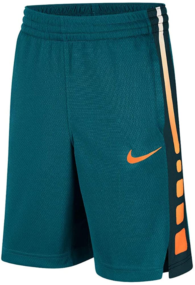 Nike Big Kids (Boys) Dri-FIT Training Shorts (Geode Teal/Cone/Cone, Small)