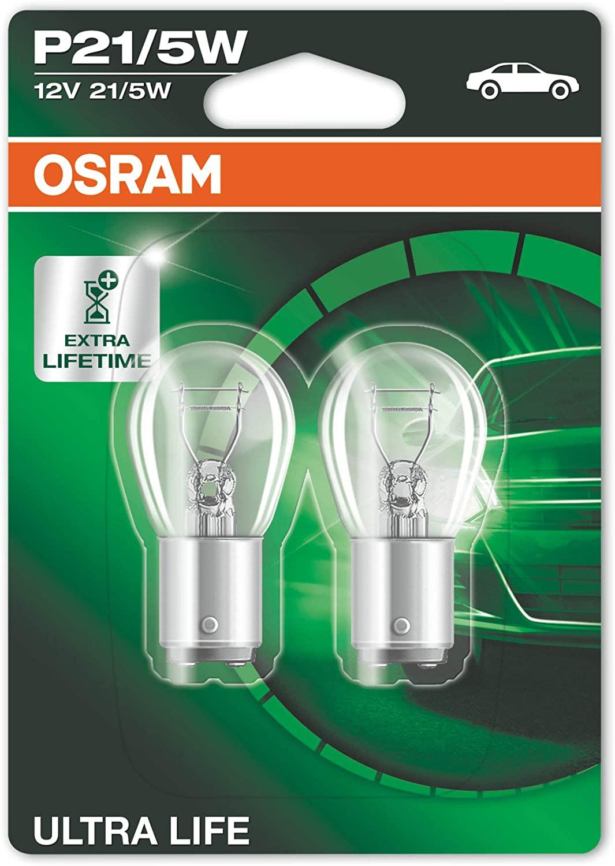 OSRAM ULTRA LIFE P21/5W brake, rear and reversing light 7528ULT-02B longlife in double blister