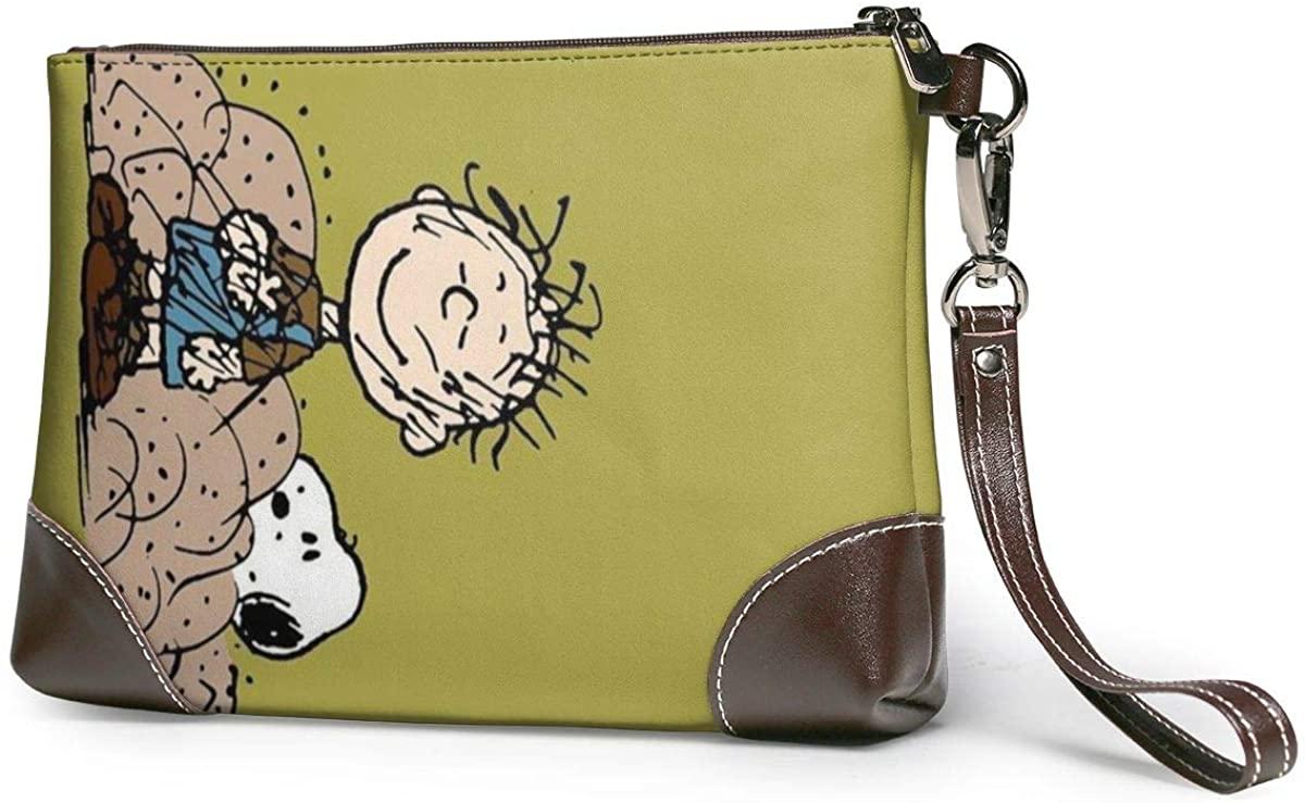 Snoopy Leather Coach Corner Zip Wrist Women's Of Man Leather Wristlet Clutch Wallet, Smartphone Wristlet Purse Signature Wallett