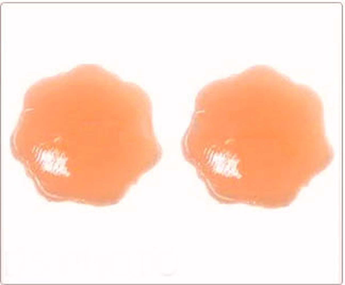 Petal Shaped Reusable Silicone Nipple Cover (1 Pair) Nude Colour