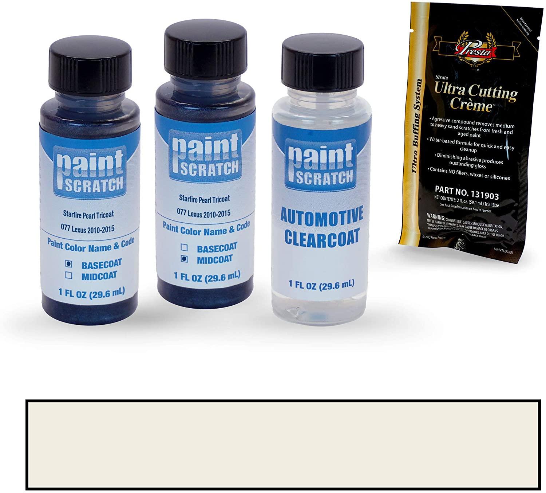 PAINTSCRATCH Touch Up Paint Tricoat Bottle Car Scratch Repair Kit - Compatible with Lexus GX460 Starfire Pearl Tricoat (Color Code: 077)