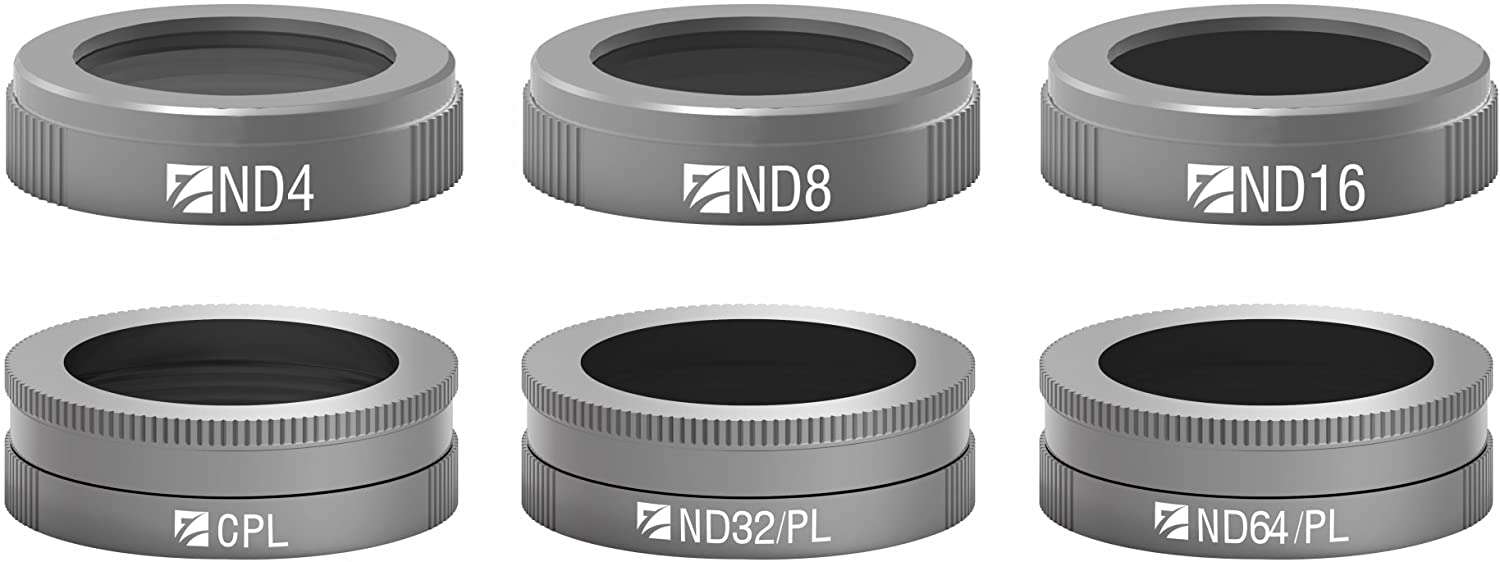 Freewell Budget Kit -6Pack ND4, ND8, ND16, CPL, ND32/PL, ND64/PL Filters E-Series Compatible with DJI Mavic Air