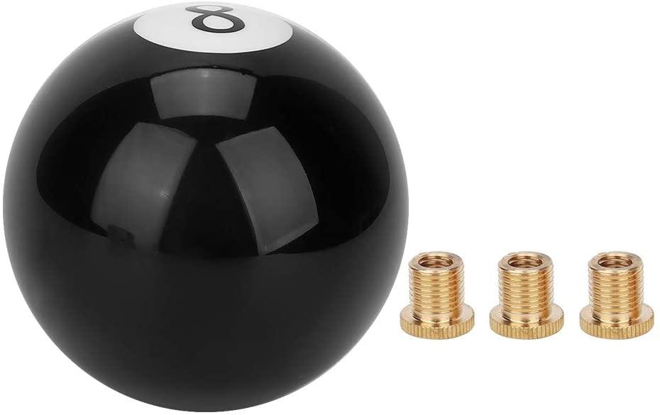 Gear Shift Knob,Universal Black 8 Billiard Ball Round Car Gear Shift Knob Lever Handle Shifter