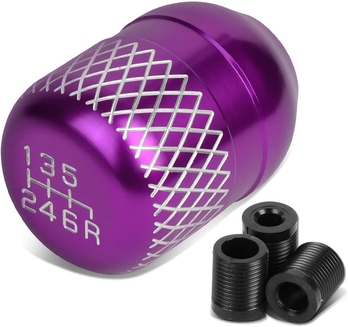DNA Motoring SK-6S-T1-PP Purple Coated Aluminum Manual 5-Speed Shift Knob