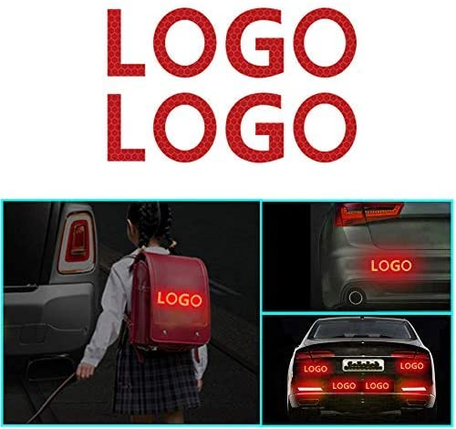 changlaiwang 2 PCS Can be Customized for Chevrolet Suburban Reflective Tape Outdoor Conspicuity Safety Warning Sticker Waterproof with Word Suburban Red 6X6CM