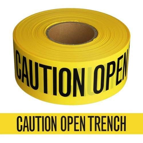 Harris Industries, Inc. BT-19-200-2mil 3in x 200ft Caution Open Trench Barricade Tape