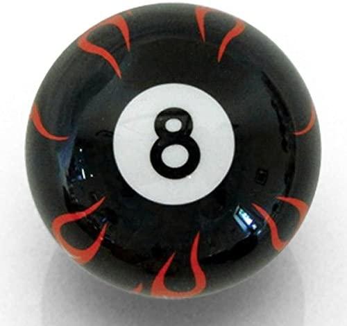 American Shifter Company ASCSN11003 Black Flame 8 Ball Custom Shift Knob Opaque
