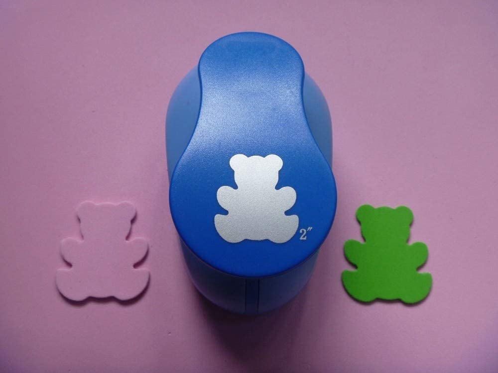 Clips 2 inch Big Bear Shaped Paper/EVA Foam Hole Puncher for Greeting Card Handmade DIY Scrapbooking Craft Punch Machine