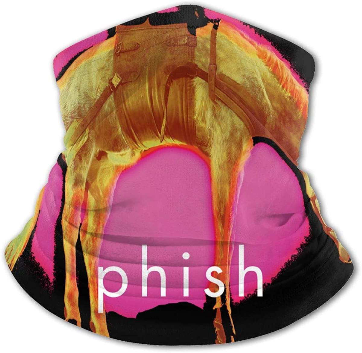 Phish Face Mask Bandanas,Neck Gaiter,Headwear,Magic Scarf,Headband for Dust Sun Wind,Reusable Bandana Face Cover Black