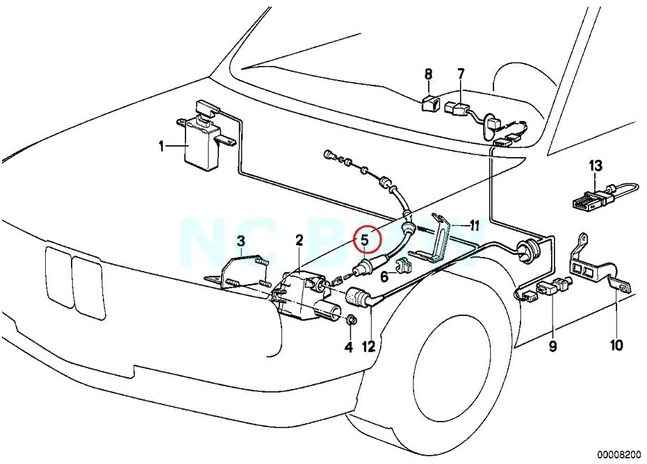 BMW Genuine Bowden Cable F Cruise Control