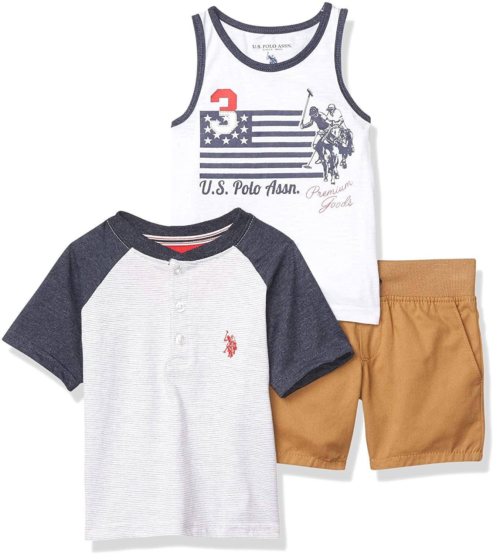 U.S. Polo Assn. Boys Shorts Set