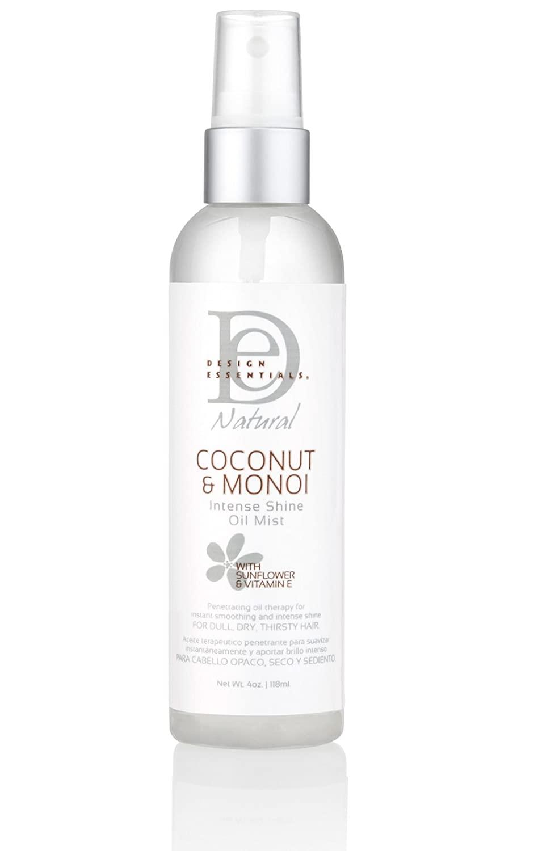 Design Essentials Coconut & Monoi Intense Shine Oil Mist 4 Oz