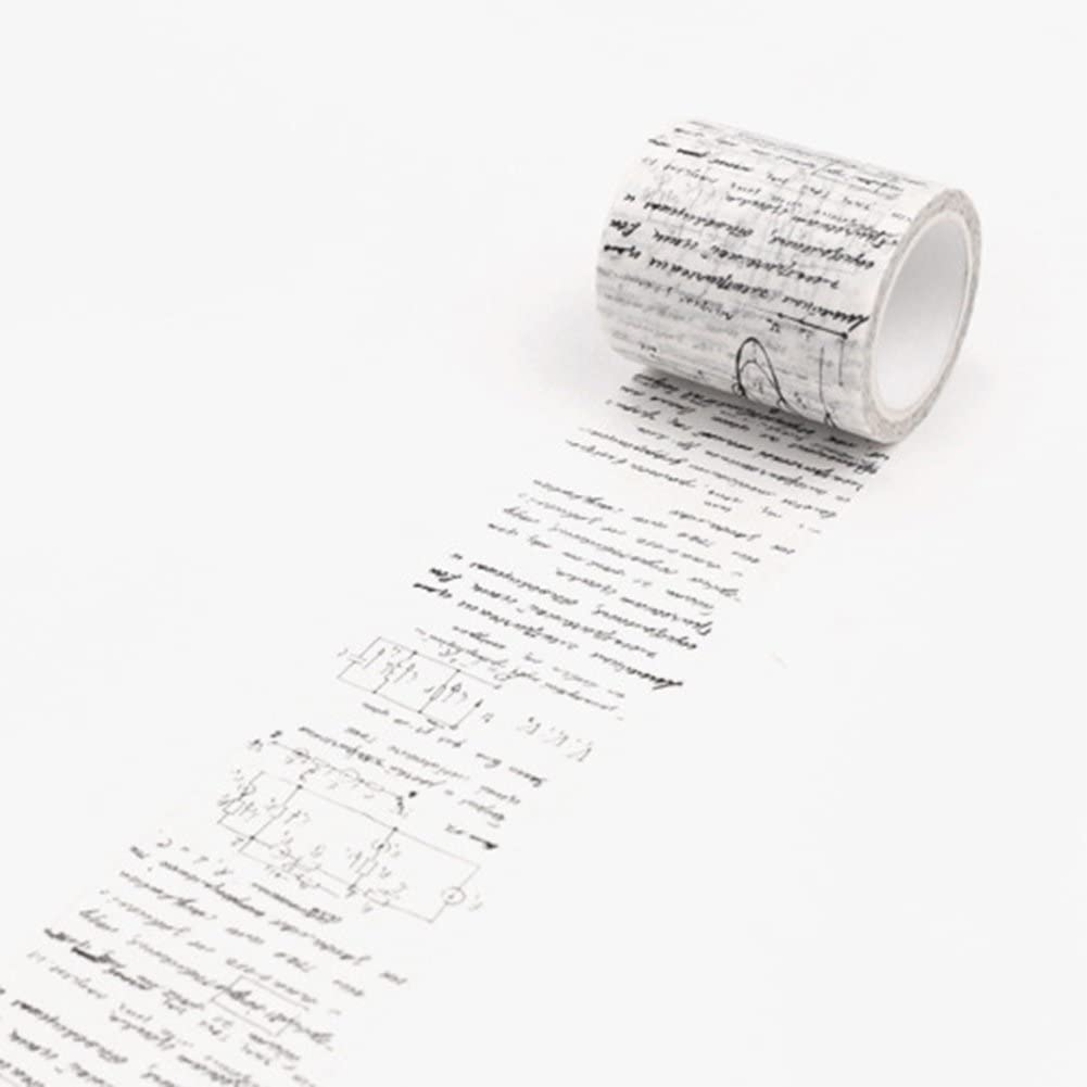 Washi Tape Maserfaliw Vintage Washi Tape Decorative Paper Masking Tape DIY Adhesive Scrapbook Sticker - Formula, Necessary Home, Travel, Office, Crafts, Holiday Gifts.