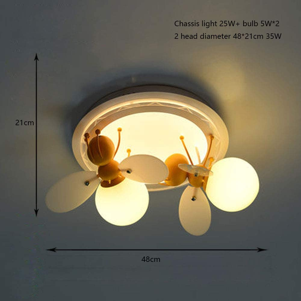 KMMK Home Bedroom Ceiling Light,Ceiling Light, Led Ceiling Lamp Childrens Room Led Creative Bee Male Girl Bedroom Illumination Indoor Lighting Personality Lamps for Kids Romantic Bedroom Ceiling Lam