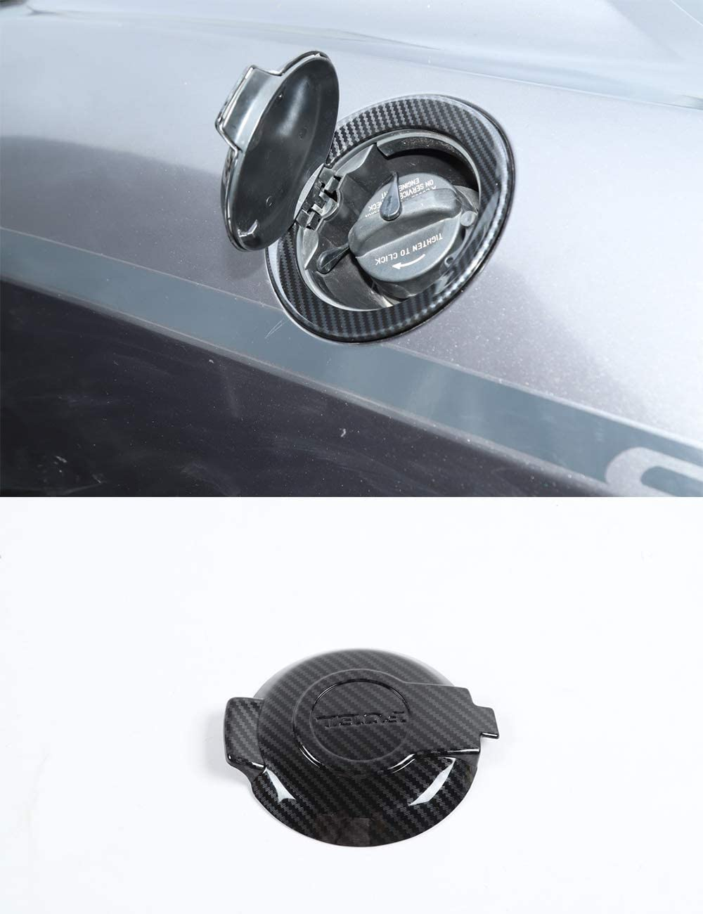 Challenger Car Carbon fiber Fuel Tank Cap Decorative Cover for Dodge Challenger 2015-2020