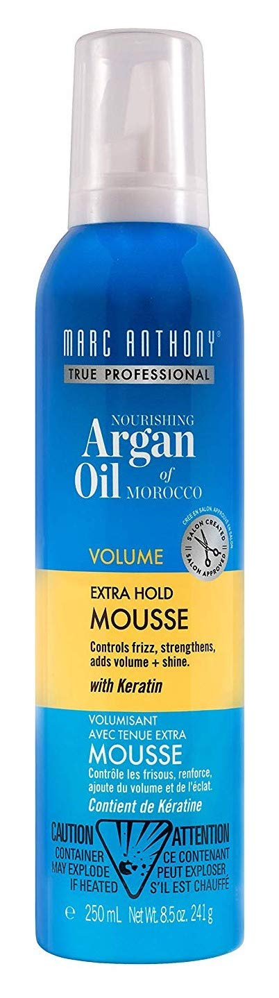 Marc Anthony Argan Oil Mousse Volumizing 8.5 Ounce (Extra-Hold) (250ml) (3 Pack)