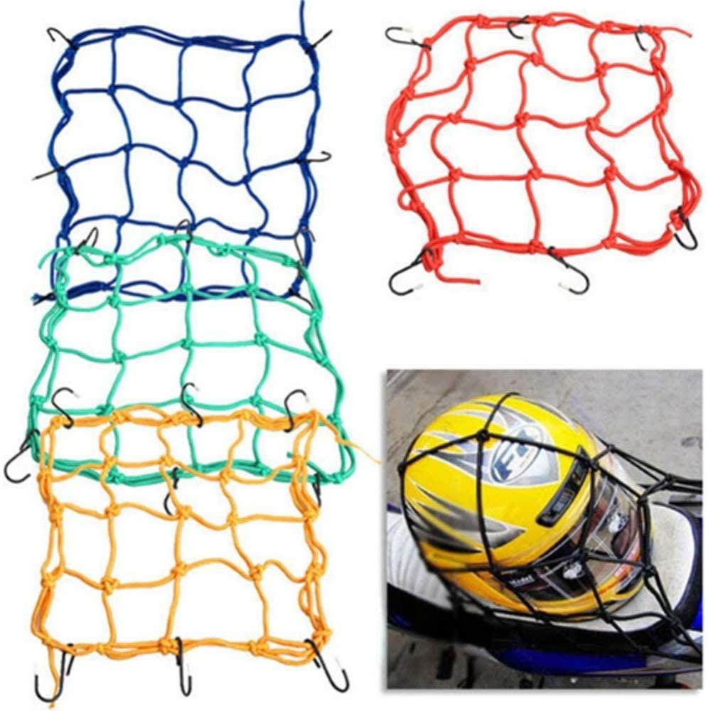 scooter 6 Hooks 3030cm Motorcycle Mesh Net Bag Luggage Cargo Bungee Net Bag Storage Carrier Bag Helmet Holder for Motorcycle (Red)