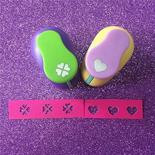 Clips 2pcs Hearts and Heart 8MM Craft Punch Set Loving Punches Tool Scrapbook Paper Puncher Cutter Hole Punch Shapes