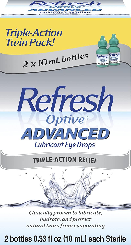 Refresh Optive Advanced, 0.33 Fl Oz (2 Count)