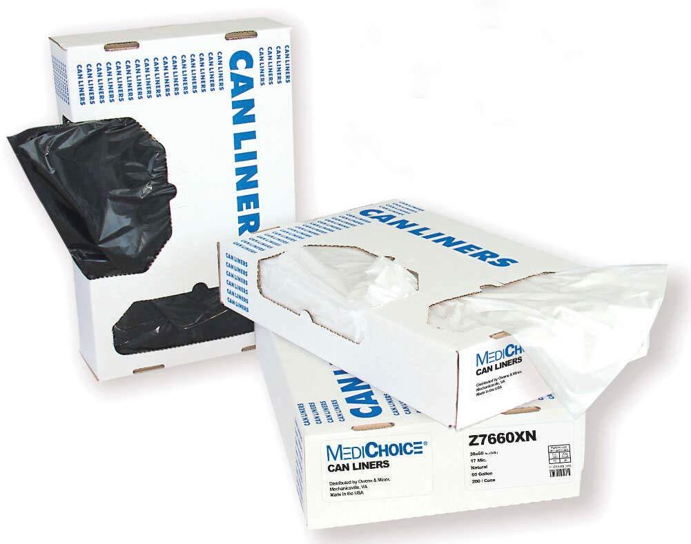 MediChoice Can Liner, Low Density Polyethylene, 20-30 Gallon .50mL, 26 x 42in, Black- 131436MBOR01 (Case of 250)