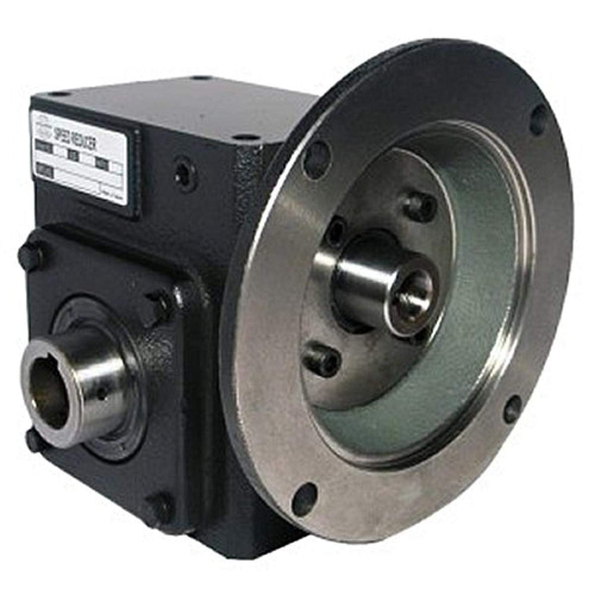 Worldwide Electric HdRF237-50/1-H-56C Worm Gear Reducers Flange Input, Hollow Bore Output, 50:1 Ratio, 35 Output RPM, 56C Frame, 2.37