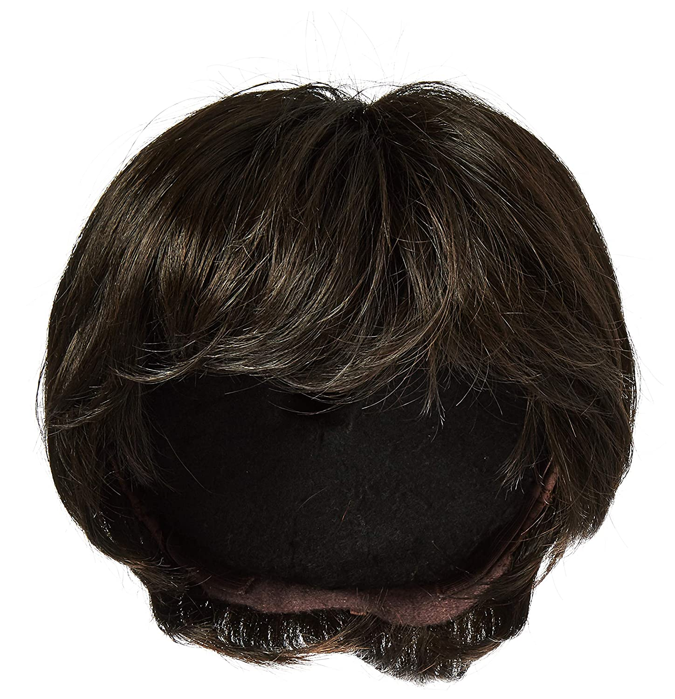 Raquel Welch Go for It Boy Cut Short Hair Wig with Longer Layers, R4 Midnight Brown by Hairuwear