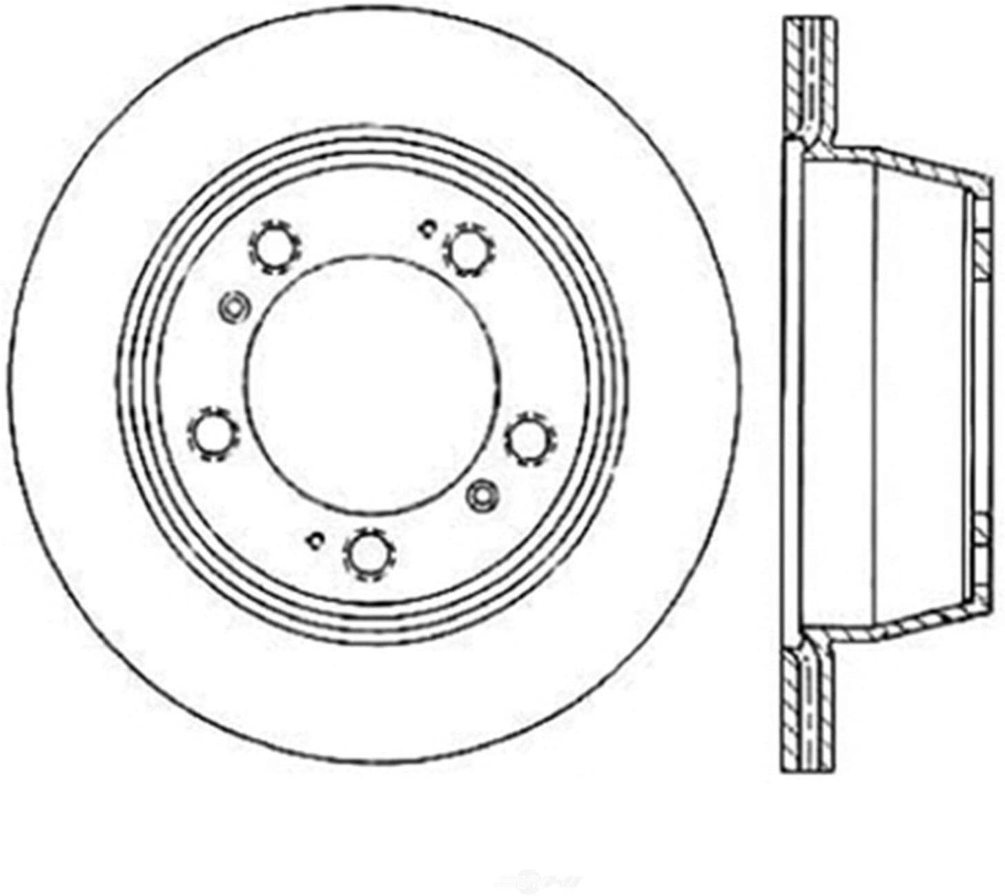 Centric 228.37036 Centric- Standard Brake Rotor 0LWU7
