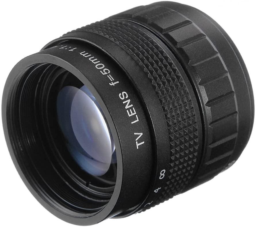 Fotga 50mm F1.4 CCTV Lens for C Mount Camera + Lens Mount Adapter for 16mm C Mount Movie Lens to Fujifilm X Mount X-T2 X-T10 X-T20 X-T100 X-Pro1 X-Pro2 X-A1 X-A2 X-A3 X-A5 X-A20 X-H1 X-E1 X-E2 X-E3