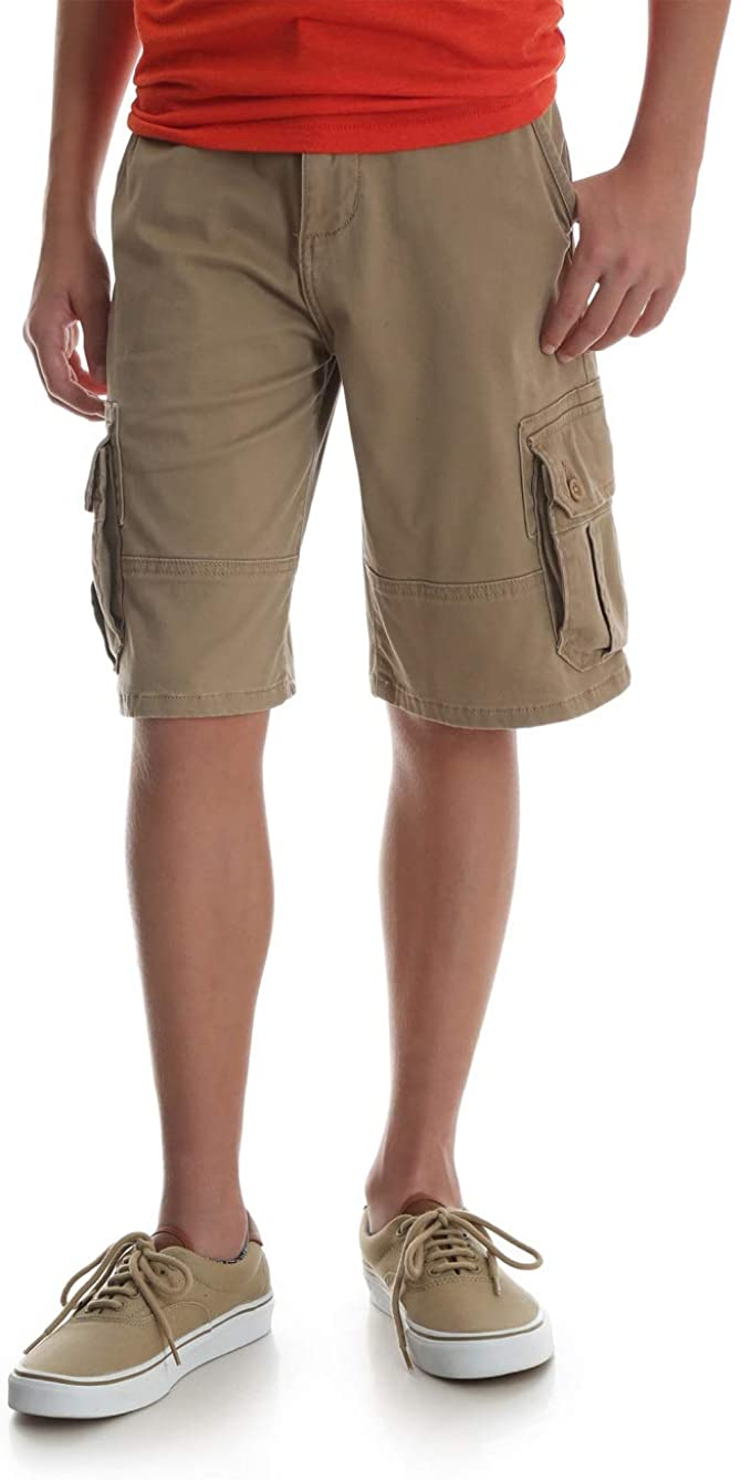 Wrangler Boys Multi-Pocket Cargo Shorts Beige