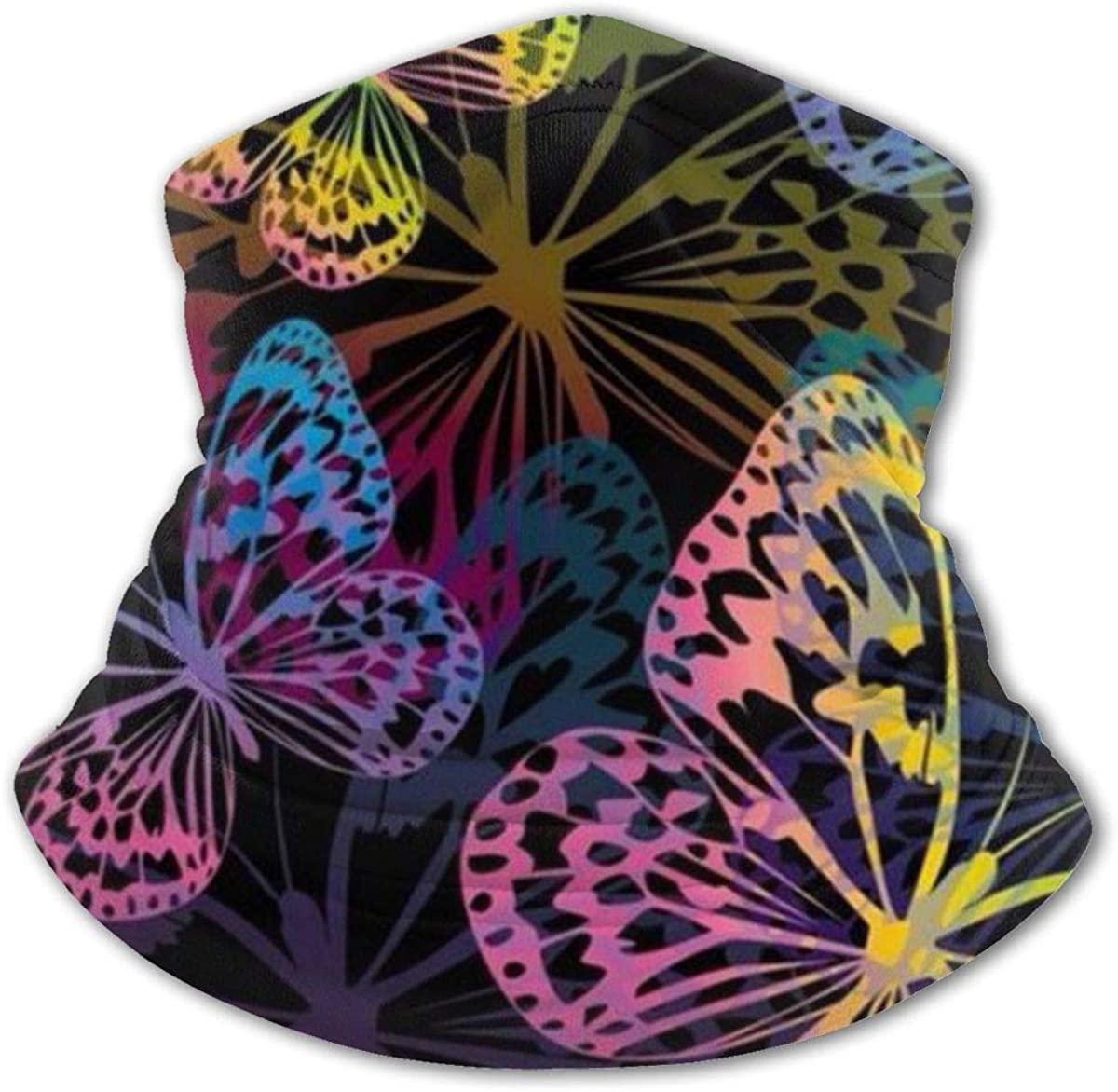Butterflies Headwear For Girls And Boys, Head Wrap, Neck Gaiter, Headband, Tenn Fishing Mask, Magic Scarf, Tube Mask, Face Bandana Mask For Camping Running Cycling