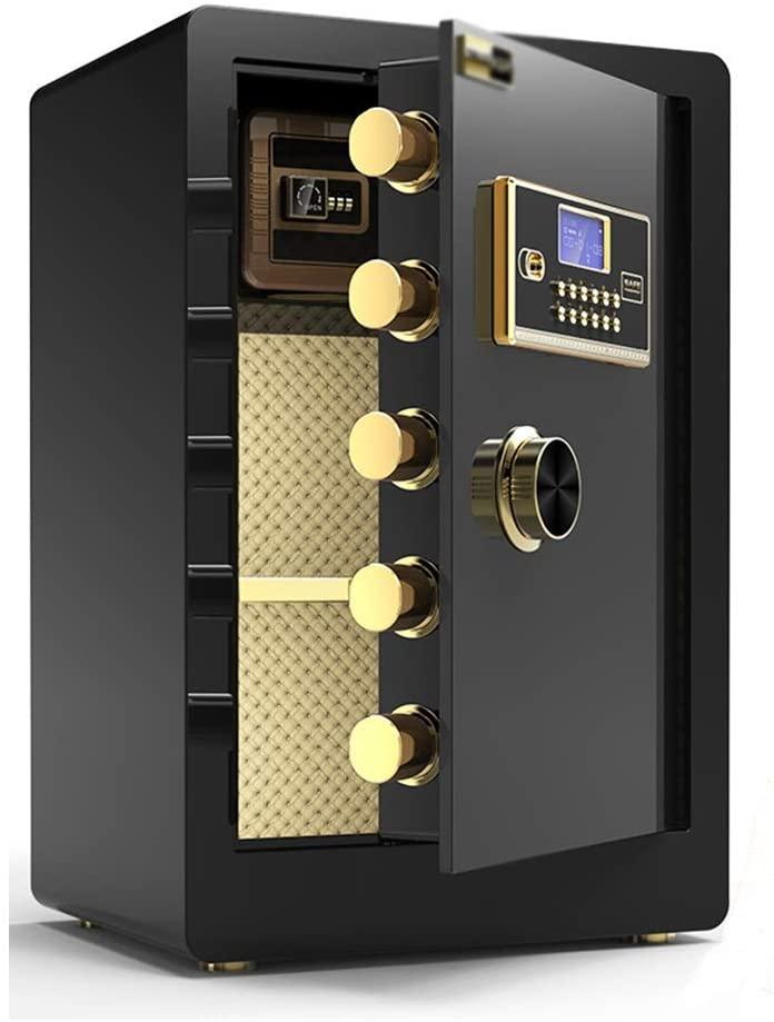 qazxsw Cabinet Safes Password Safe Home 60cm Office Safe Small Burglar Alarm Safe Deposit Box with Built-in Safe Anti-Pry Safe