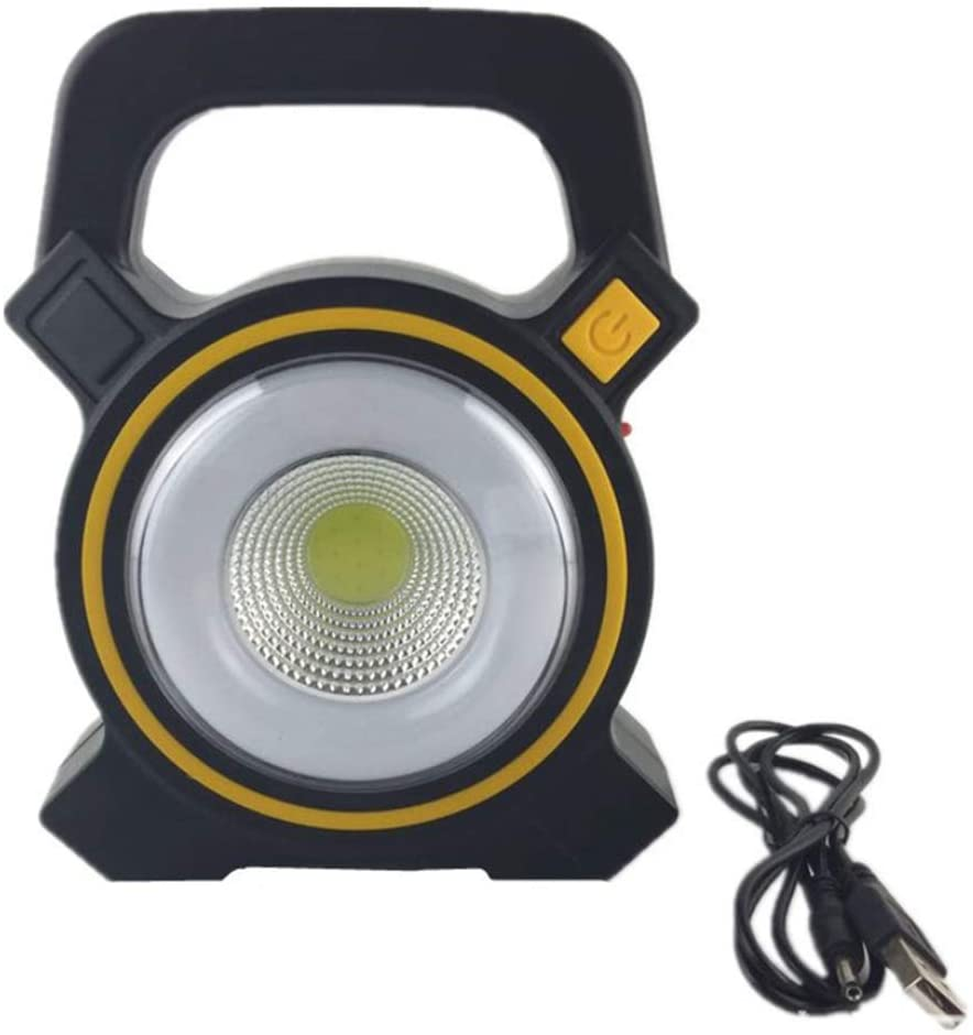 Baost Portable LED Work Light 30W Solar Rechargeable COB Light Outdoor Garden USB Charge Lamp Camping Emergency Light Cordless Floodlight Random Color