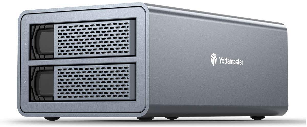 Yottamaster 2 Bay RAID External Hard Drive Enclosure 2.5