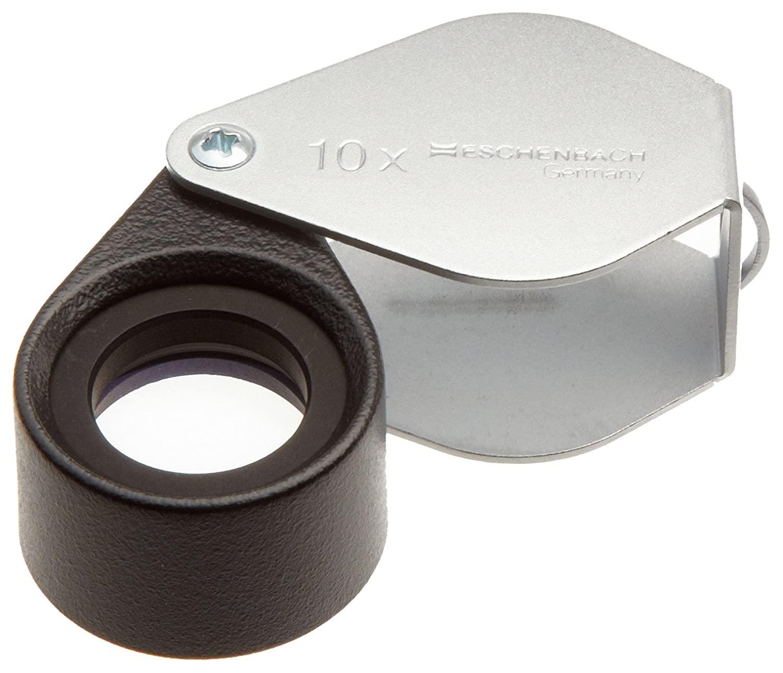 Eschenbach 1184-10 Hand-held Technical Achromatic Magnifier, 10x Magnification, 17mm Lens Diameter