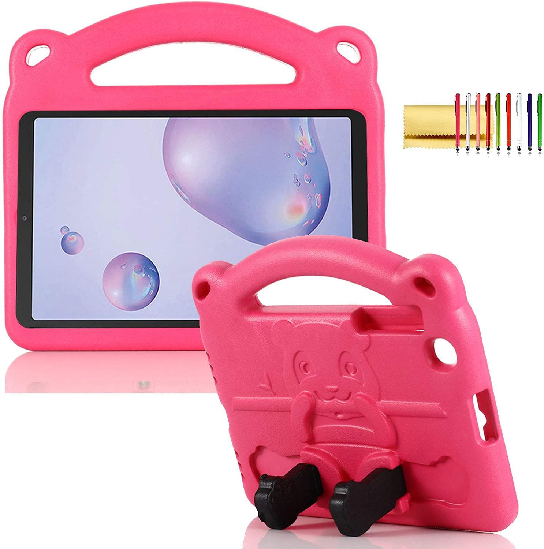 Kids Case for Samsung Galaxy Tab A 8.4 SM-T307U (2020 Version), Techcircle Cute Panda Design Kickstand Lightweight Handle Child Shock Proof Cover EVA Foam Bumper Drop Protection Kid-Safe Case, Rose