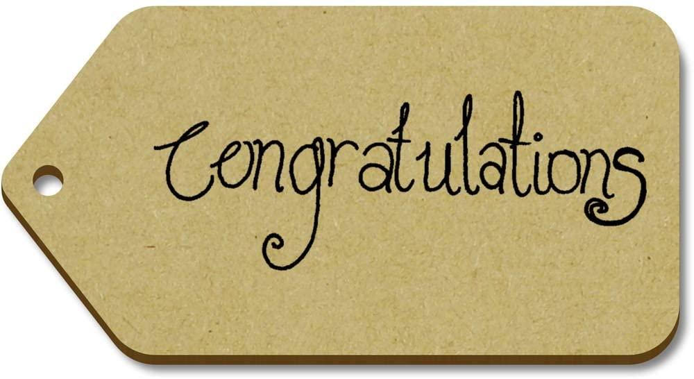 Azeeda 10 x Large 'Congratulations' Wooden Gift Tags (TG00018908)