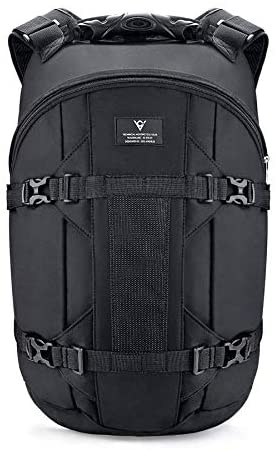 Viking Cycle Gunnar Premium 25 Litre Heavy Duty Black PVC Reinforced Polyester Motorcycle Riding Backpack