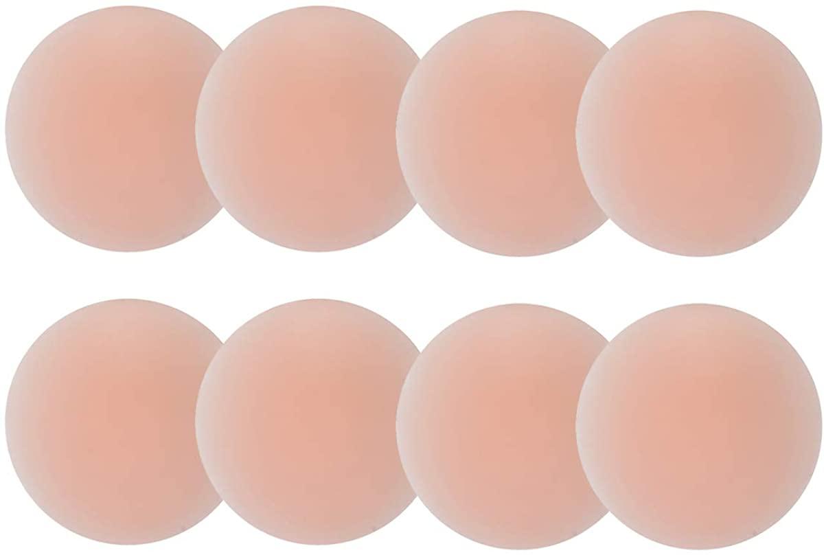 Okiba Nipple Pasties Women Nipple Covers Reusable Adhesive Silicone Nippleless Covers