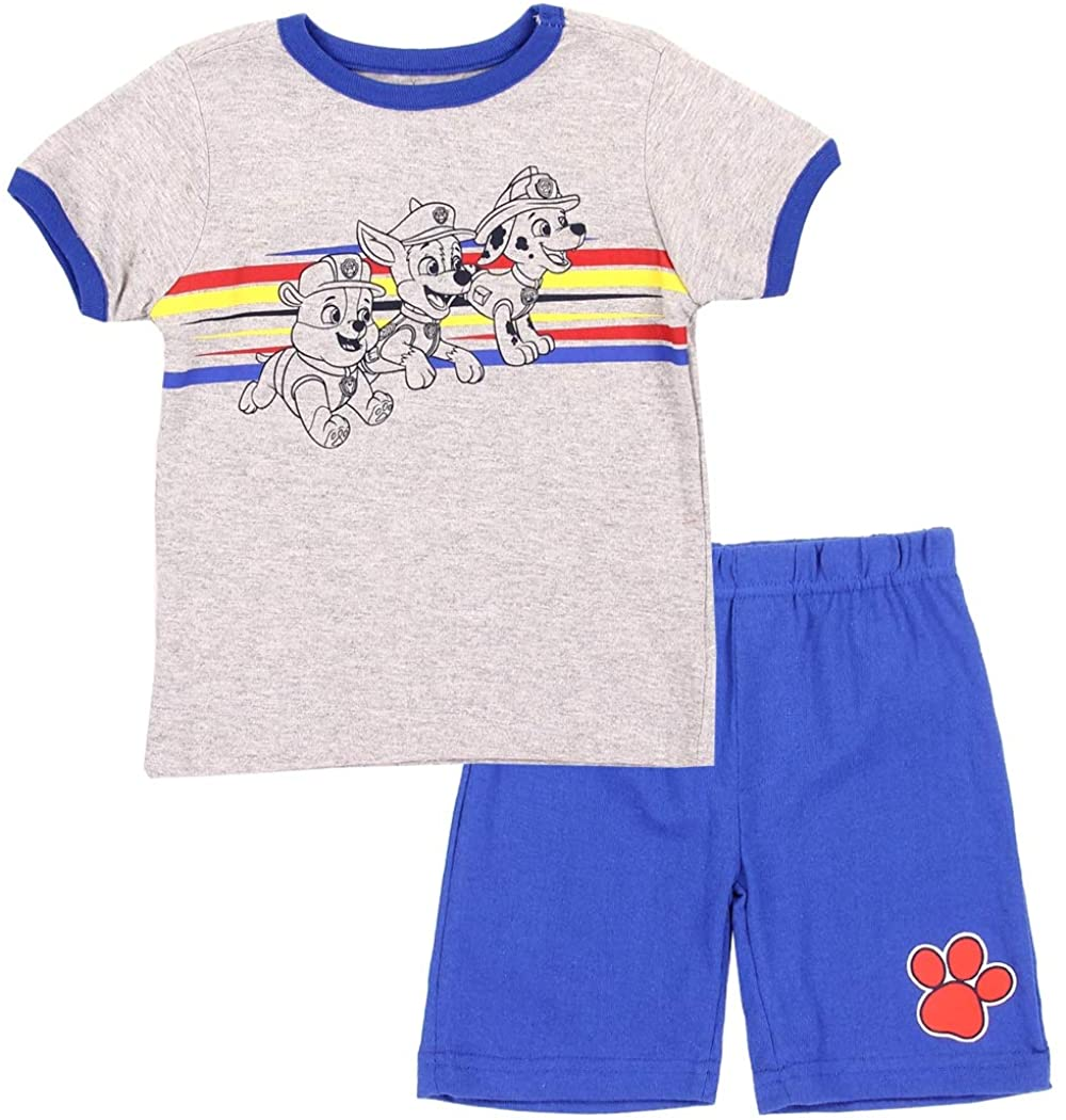 Paw Patrol 2-Piece Short Sleeve Shirt and Shorts Outfit for Toddler Boys