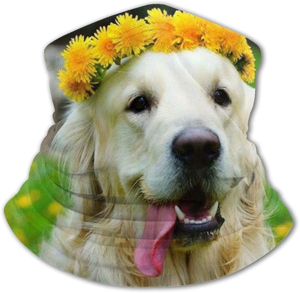 Golden Retriever Headwear For Girls And Boys, Head Wrap, Neck Gaiter, Headband, Tenn Fishing Mask, Magic Scarf, Tube Mask, Face Bandana Mask For Camping Running Cycling