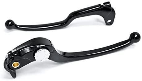 Krator Brake + Clutch Hand Lever Black Replacement Set For 2004 Suzuki GSXR 750 GSX-R750