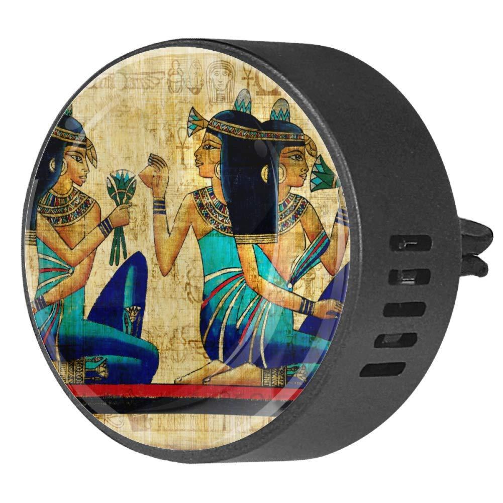 2PCS Car Aromatherapy Essential Oil Car Diffuser Fragrance Vent Clip Air Freshener Egyptian Woman Vintage Retro