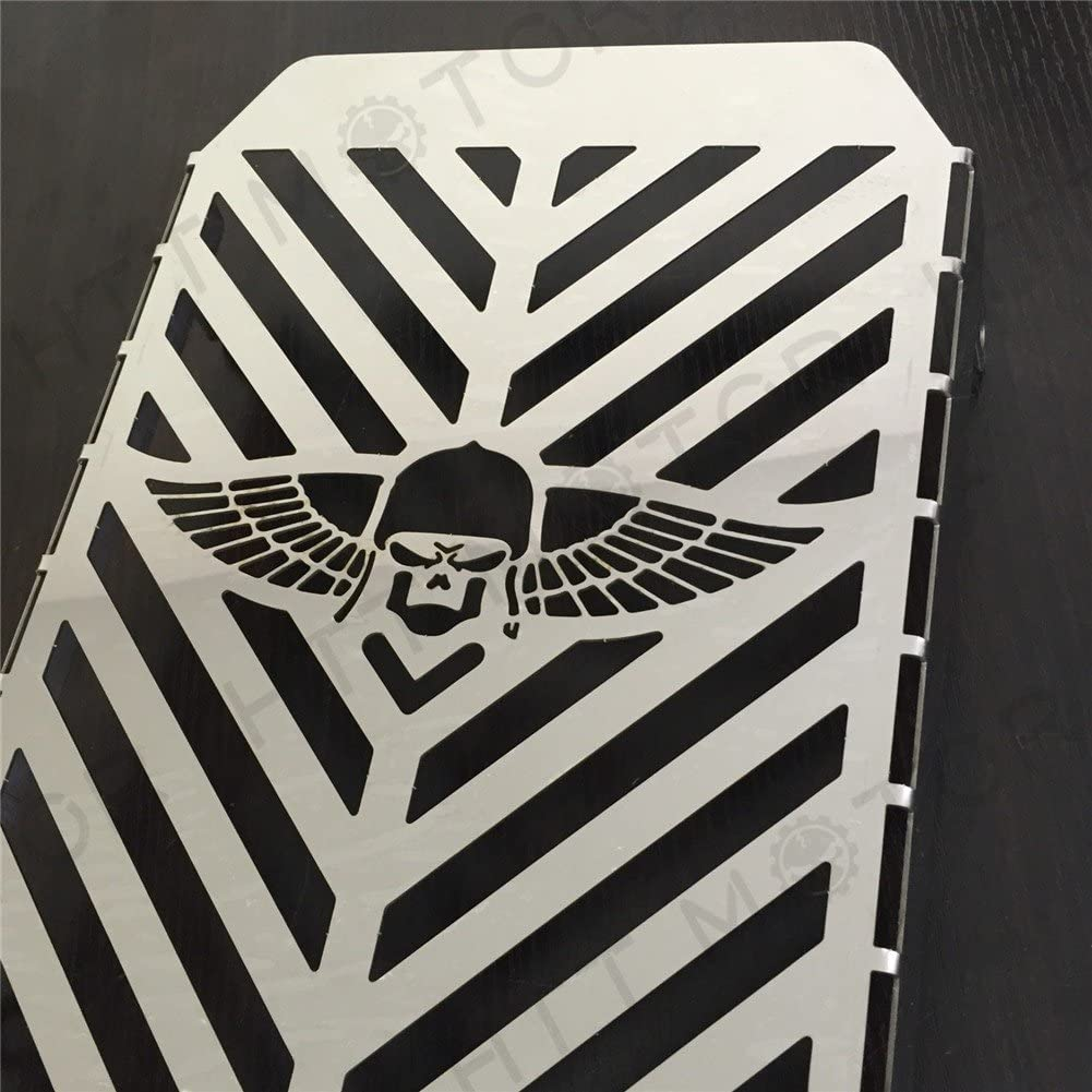 XKMT-skull Wing Radiator Grille Cover Guard Protector Compatible With Kawasaki Vulcan VN 1500 Stainless Steel [B00YWCRIHU]